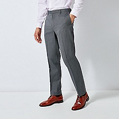 Burton - Grey Tailored Fit Pindot Trousers