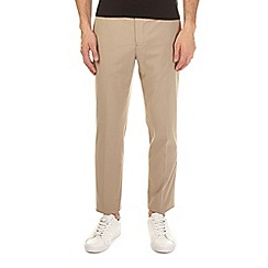 Burton - Taupe tapered fit stretch trousers