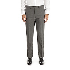 Burton - Grey tailored fit stretch striped trousers