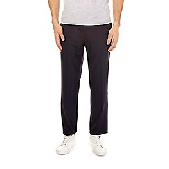 Burton - Navy tailored fit dogtooth trousers