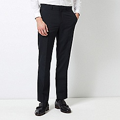 Burton - Navy Tailored Fit Stripe Trousers