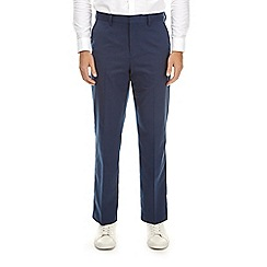 Burton - Blue twill tailored fit trousers