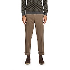 Burton - Taupe tailored fit twill trousers