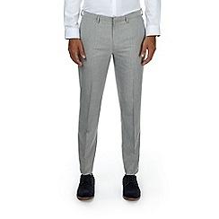 Burton - Light grey tailored fit trousers