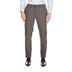 Burton - Charcoal skinny fit herringbone trousers
