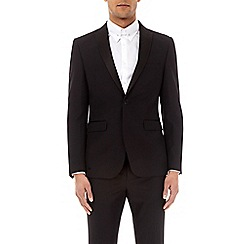Burton - Black essential slim fit tuxedo suit jacket