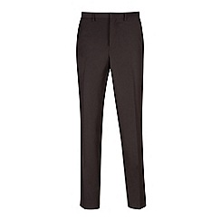 Burton - Black essential slim fit tuxedo trousers