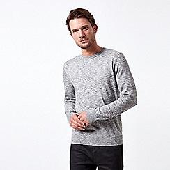 Burton - Dark grey marl crew neck jumper