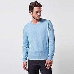 Burton - Light blue v-neck jumper