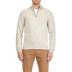 Burton - Grey zip neck jumper