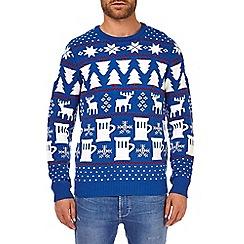 Burton - Blue light up Christmas jumper