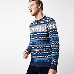 Burton - Blue prostate cancer UK Christmas jumper