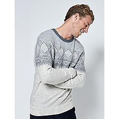 Burton - Ecru Fair Isle patterned jumper