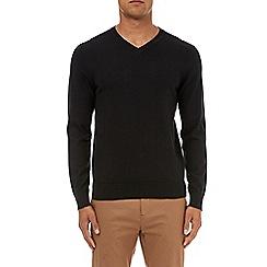 Burton - Black v-neck jumper