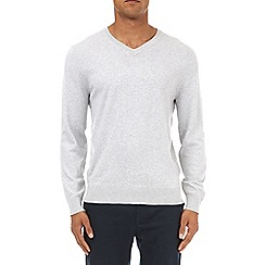 Burton - Grey v-neck jumper
