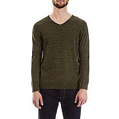 Burton - Khaki crew neck jumper