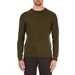 Burton - Core khaki crew neck jumper