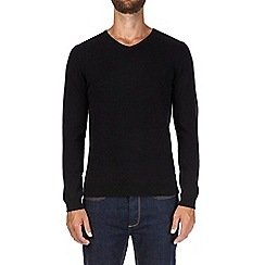 Burton - Black V-neck jumper