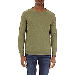 Burton - Khaki fine knit sweater