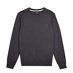 Burton - Charcoal grey crew neck jumper