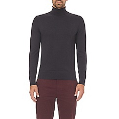 Burton - Black roll neck jumper