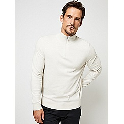 Burton - Ecru half zip jumper