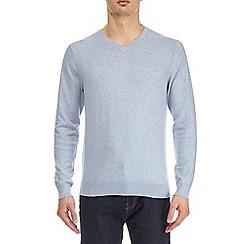 Burton - Blue v-neck jumper