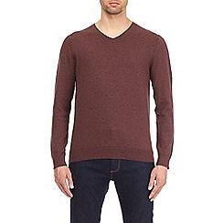 Burton - Light burgundy v-neck jumper