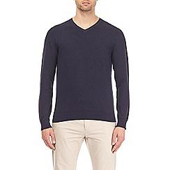 Burton - Navy v-neck jumper