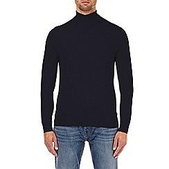 Burton - Navy roll neck jumper