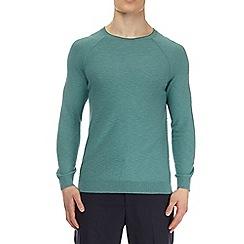 Burton - Green fine knit jumper