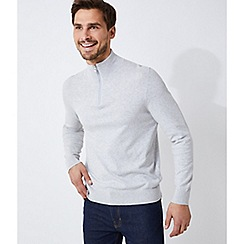 Burton - Grey half zip jumper