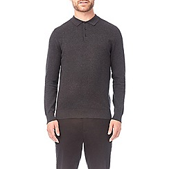 Burton - Charcoal long sleeve polo shirt