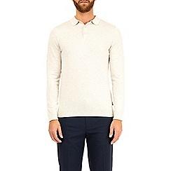 Burton - Ecru knitted polo shirt