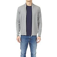Burton - Grey zip through knitted jacket