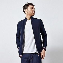 Burton - Blue Tipped Zip Through Cardigan