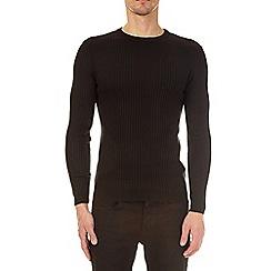 Burton - Black muscle fit crew neck jumper