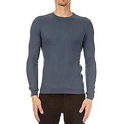 Burton - Blue muscle fit crew neck jumper
