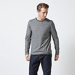 Burton - Grey Herringbone Knitted Top