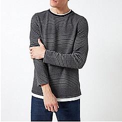 Burton - Black Striped Knitted Top