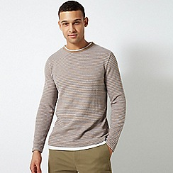 Burton - Camel Striped Knitted Top