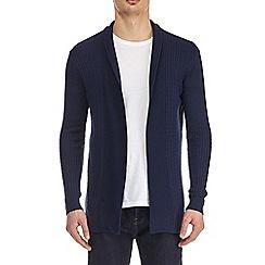 Burton - Navy cable knit cardigan