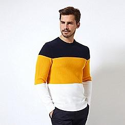 Burton - Three colour block crew neck jumper