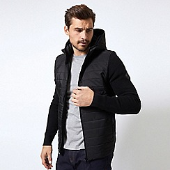 Burton - Black hooded knitted jacket