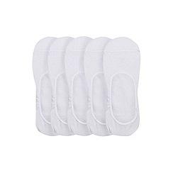 Burton - 5 pack white invisible socks