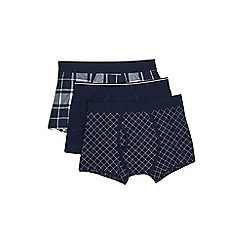 Burton - Navy 3 pack checked trunks