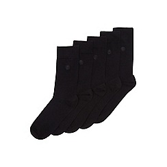 Burton - 5 pack black socks with b logo