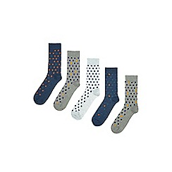 Burton - 5 pack coloured spotted socks