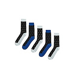 Burton - 5 pack assorted waffle ankle socks