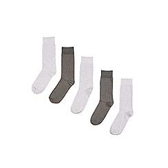 Burton - 5 pack of grey mixed socks